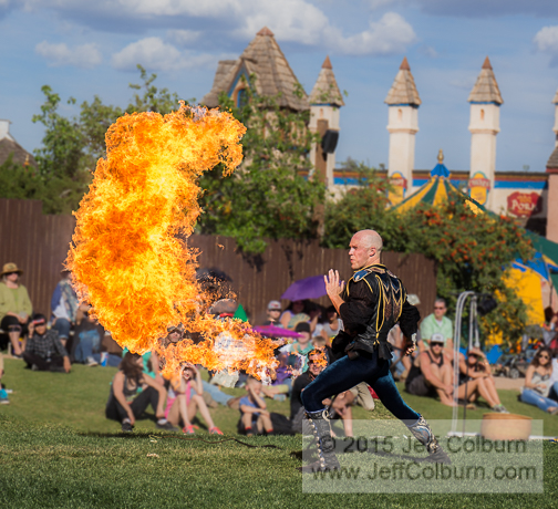 Adam Crack with his Fire Whip - RenFaire2015-0080