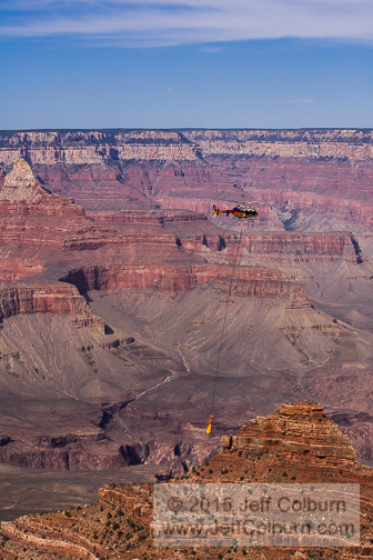 Body being removed from Grand Canyon - GC1229