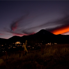 Sunset at the Hogback<br/> Cemetery, Jerome,<br/> Arizona<br/> Price: $327.00