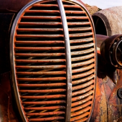 An Old Car Grill