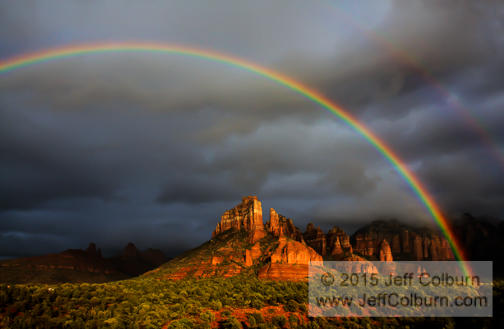 Rainbow in the Red Rocks - Sedona - 09RAINBOW0062a