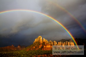 Rainbow in the Red Rocks of Sedona